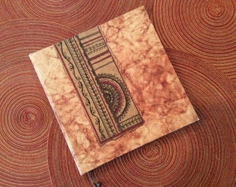 paper supplies ... beautiful ARTISAN MEMORY BOOK Rajasthan Red Collection handmade paper with pen ...
