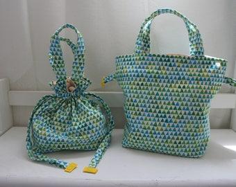 2 Ways Drawstring Bag (Green)