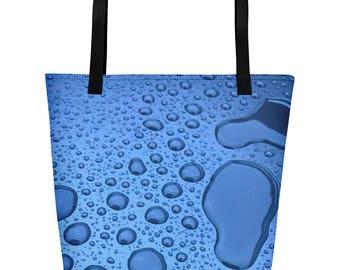 Water Drop Printed Beach Bag