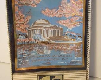 Jefferson Memorial Souvenir Glass Tray - Vintage Glass Tray