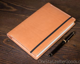 Leuchtturm 1917 Medium (A5) Hardcover Notebook cover, bridle leather - tan