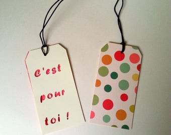 """2 gift tags """"It's for you"""""""