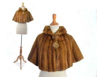 Vintage Mink 1930s fur stole, Kolinsky Mink Japanese Mink 30s clothing 1930s clothing 1930s coat 30s coat mink wrap mink shrug mink shawl