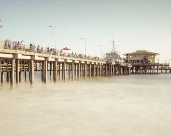 Santa Monica Pier Panoramic Print