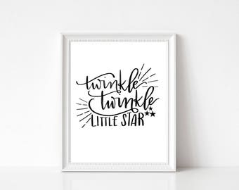 Twinkle Twinkle Little Star printable wall art - instant download