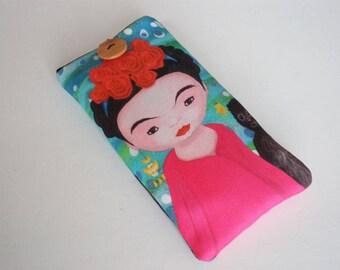 Cell phone case, iPhone X case, Galaxy S8 sleeve, Nokia case, Huawei P10 sleeve, Moto case, ZTE case, LG sleeve, Xperia sleeve, Frida Kahlo