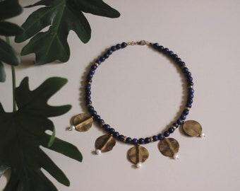 HYDRA Lapis Lazuli + Freshwater Pearl Necklace