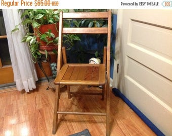 4th of July sale Wood Folding Chair Vintage Wood Chair