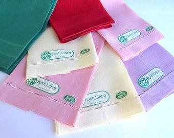 Irish Linen  Tea Towels  Cottage Chic  Kitchen Towels   Dish Towel  Dishcloth    Kitchen Decor  Vintage Linens.
