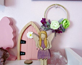 Tiny Fairy Wreath, Doll House Wreath, Tiny Home Decor, Fairy Door Decoration