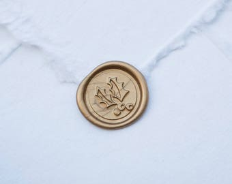 Holly Wax Seal | Christmas Wax Seal Stamp