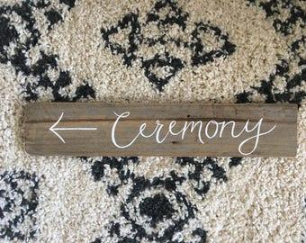Rustic Timber Wedding Ceremony Sign {Script Font}