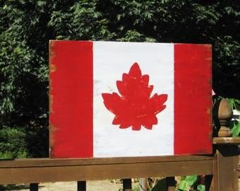 Canadian Flag Decor,Relocation Gift,Canada Flag,Reclaim Wood Art,Wood Flag,Maple Leaf,Canadian Maple Leaf,Canadian Art,Wood Wall Art