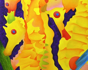 Yellow Seahorses