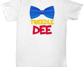 Disney Tweedle Dee Shirt Gift Disneyland Bow Tie Alice Shirts Funny