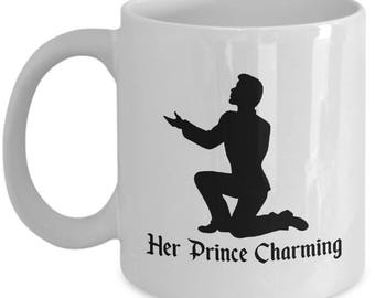 Disney Her Prince Charming Gift Mug His Cinderella Castle Coffee Cup Couple Love Gifts