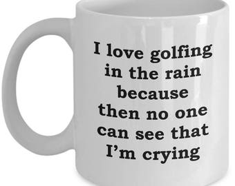 Golf in the Rain Funny Mug Gift Golfing Course Nice Shot Sports Fan Sarcastic Coffee Cup