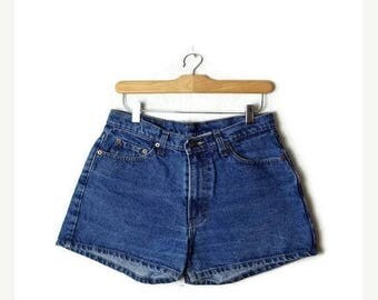 ON SALE Vintage Jordache Blue Denim Shorts from 90's/W29*