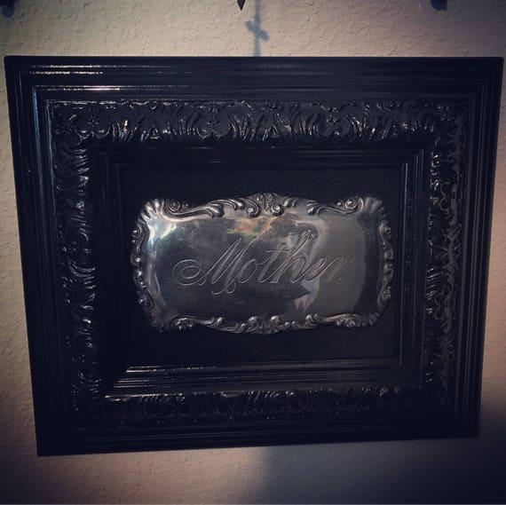 Mother Coffin Plaque on Black Frame