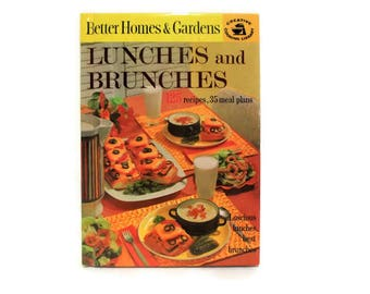 Vintage Cookbook/ Better Homes and Gardens Cookbook/ Creative Cooking Library/ 1963/ Lunches and Brunches/ Vintage Recipes/ Mid Century