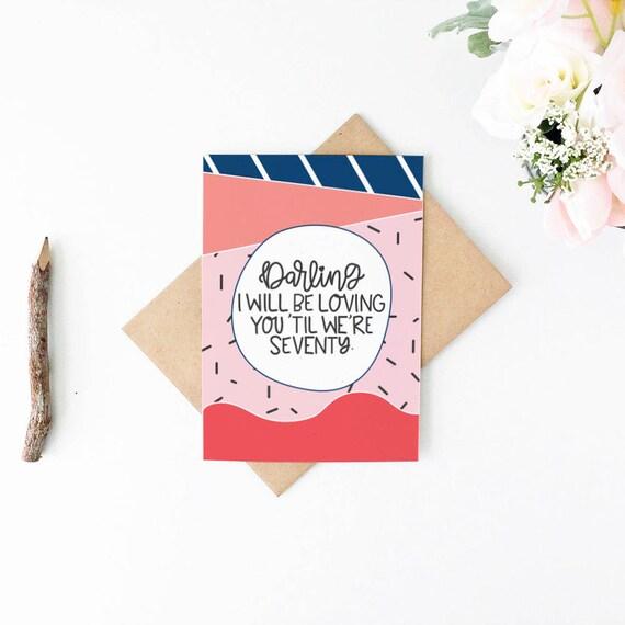 Valentines Day Card Cute Anniversary Card Romantic Birthday Card