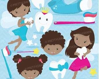80% OFF SALE Tooth fairy clipart commercial use, vector graphics, digital clip art, digital images - CL680