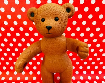 Vintage Rubber Jointed Teddy Bear