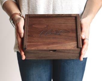 Small Keepsake Box, Wooden Box, Wedding Card Box, Personalized Gift, Groomsman Gift, Custom Quote Box, Gifts for Dad, Baby Keepsake Box