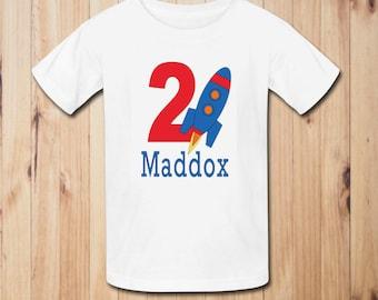 Rocket Birthday Party Shirt