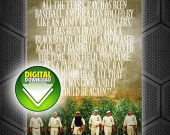 """DIGITAL DOWNLOAD: 24""""x36"""" Field Of Dreams Quote Poster"""