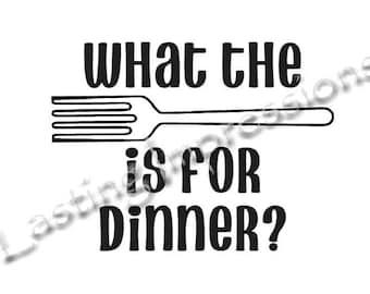 What the fork is for dinner? / Instant Pot or Crock Pot Vinyl