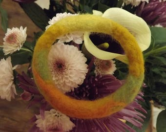 Hand Felted Bangle made from natural wool  -  'Summer Meadow'