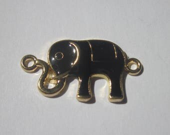 large connector elephant gilded 3.2 cm long (C13)