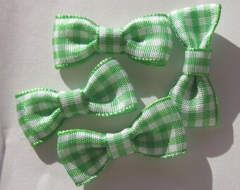 33 mm approx - patterned fabric bow (A170