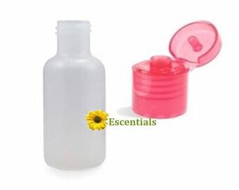 1/2 Ounce Plastic Bottle w Red Dispensing cap - 10 Pack