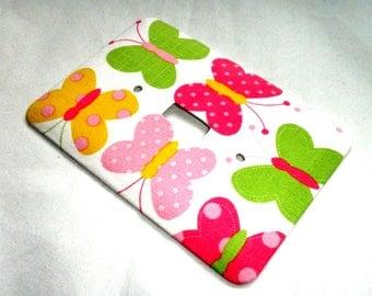 Butterflies Urban Zoologie Pink Pastel Light Switch Plate Wall Decor Switchplate