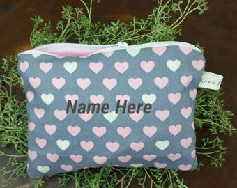 Little Hearts Zippered Pouch
