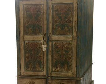 Antique Cabinet Chest Rustic Furniture Armoire with drawers, Rustic Interior Decor NEW Shipment with FREE SHIPPING