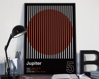 JUPITER (Wall Art, Graphic Poster, Modern Art Print, Typographic Poster, Geometric Poster)