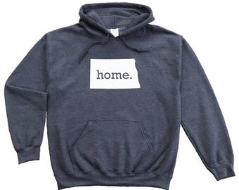 Homeland Tees North Dakota Home Pullover Hoodie Sweatshirt