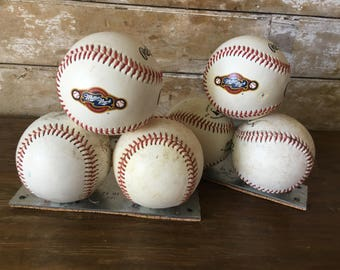 Vintage Pair of Baseball Book Ends