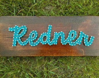 Personalized name string art sign - Personalized gift - Nursery - Baby shower gift - Wedding gift- House warming gift