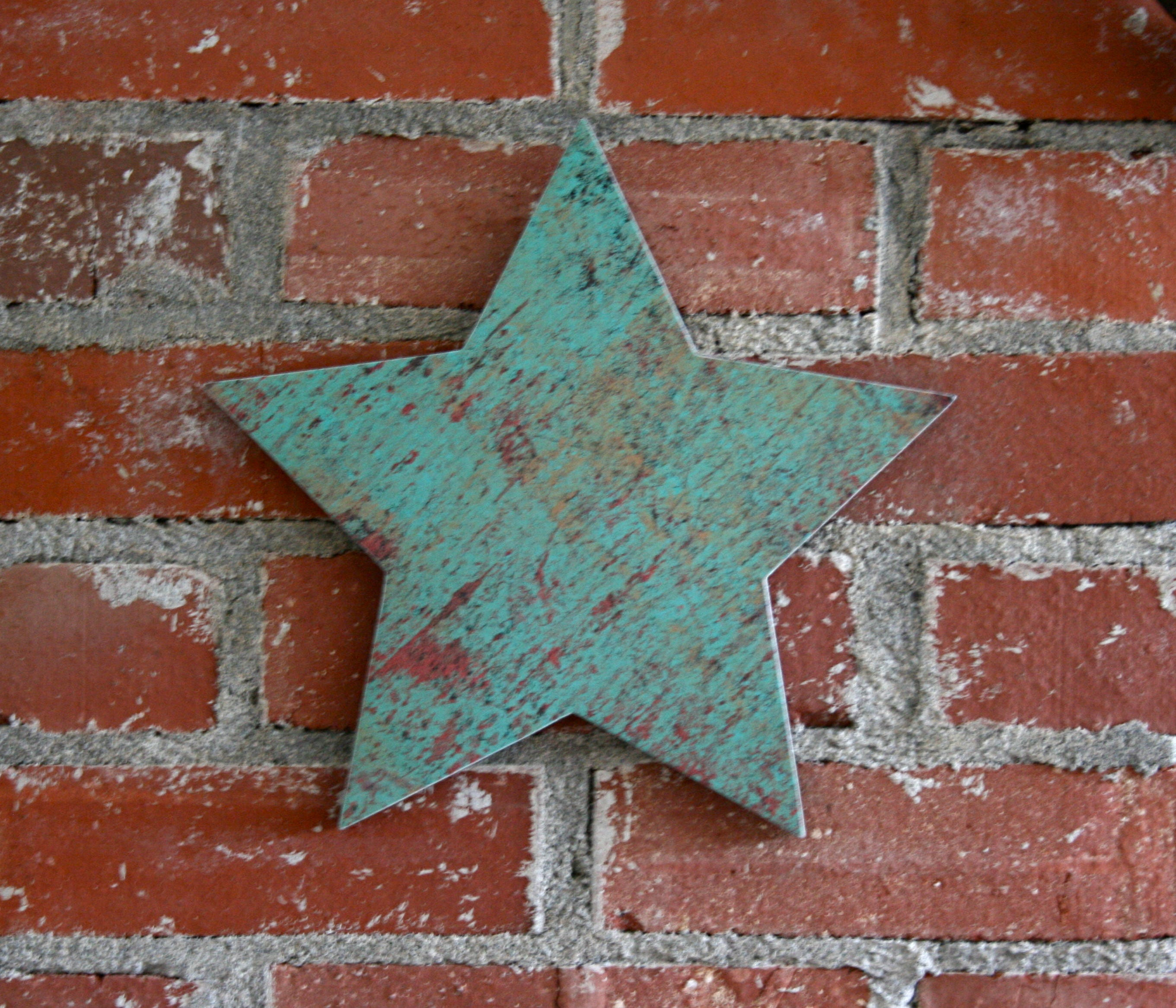 Rustic Star Wall Decor : Turquoise star wall decor rustic barn