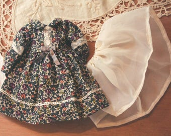 All Clementine - flesh - Pullip & Blythe skirt and lace dress