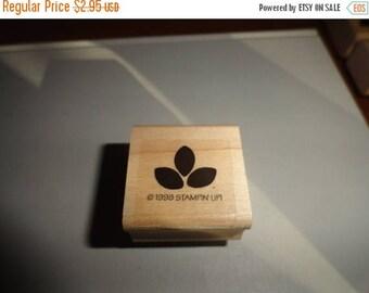 50% OFF Flower plant leaf stamp 1 by 1 inch Vintage Wooden rubber stamp