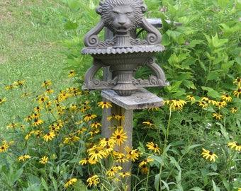 Sweet Vintage Cast Aluminum Lion Head Garden Water Fountain