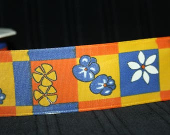 vintage flower 4 cm wide drahtkante Ribbon very nice pattern for seamstress origin Germany