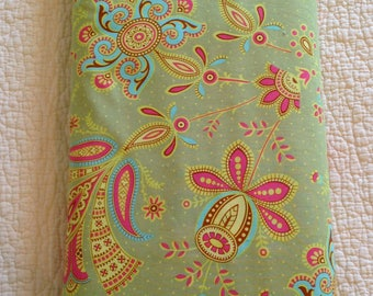 CLEARANCE Sari Blooms In Moss Fabric Amy Butler Soul Blossoms  Premium Cotton Quilters Cotton Green Pink Blue Half Yard