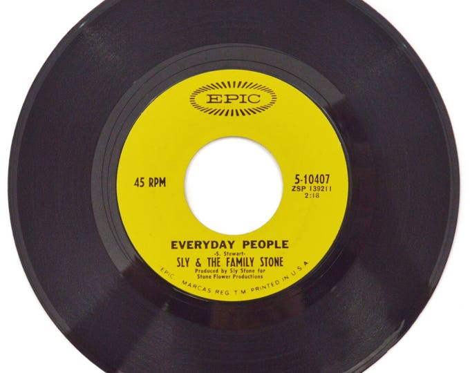 Vintage 60s Sly & The Family Stone Everyday People Soul Funk 45 RPM Single Record