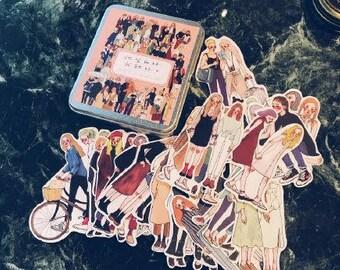 La Dolce Vita 25 pc Women Sticker Set in Metal Tin - PREORDER